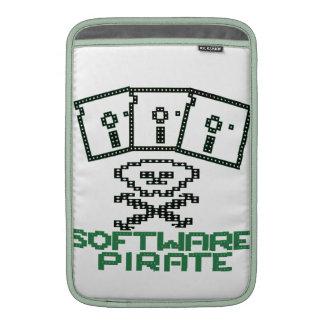 Pirata Rogelio alegre del disco blando de 8 bits d Funda Para Macbook Air