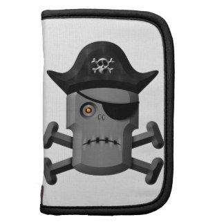 Pirata Rogelio alegre del robot que frunce el ceño Organizador