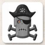 Pirata Rogelio alegre del robot que frunce el ceño Posavaso