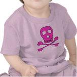 Pirata rosado camisetas