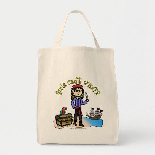 Pirata rubio del chica bolsa tela para la compra