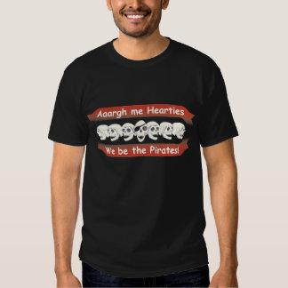 Pirata seamos la camiseta para hombre de los polera
