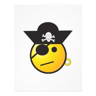 Pirata sonriente de la cara plantillas de membrete