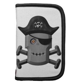 Pirata sonriente Rogelio alegre del robot Organizadores