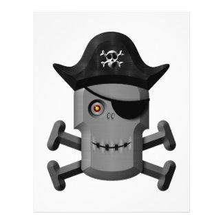 Pirata sonriente Rogelio alegre del robot Tarjeton