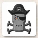 Pirata sonriente Rogelio alegre del robot Posavasos De Bebidas