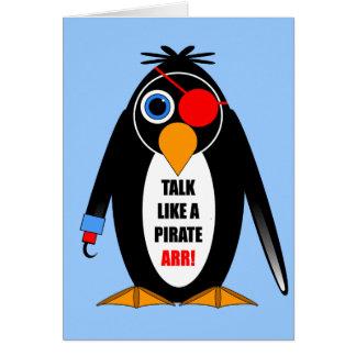 pirata tarjeta de felicitación