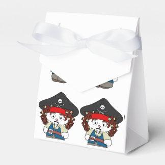 Pirata torpe del dibujo animado caja para regalo de boda