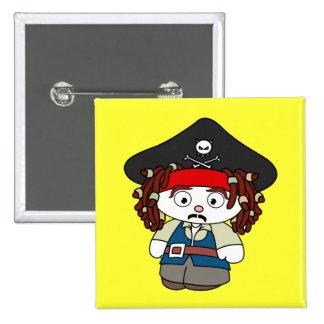 Pirata torpe del dibujo animado