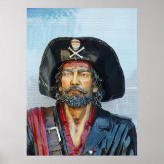 Pirata único del vintage póster