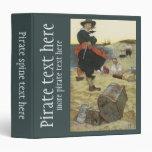 Pirata William Kidd que entierra el tesoro en la i