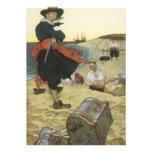 Pirata William Kidd que entierra el tesoro en la i Comunicados Personalizados