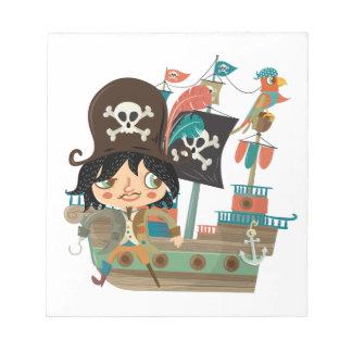 Pirata y barco pirata blocs de notas
