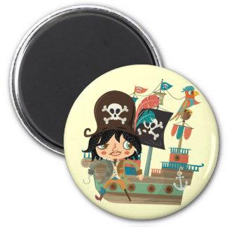 Pirata y barco pirata iman