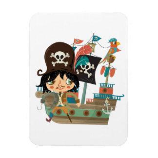 Pirata y barco pirata imanes de vinilo