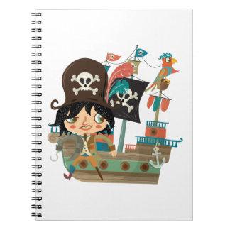 Pirata y barco pirata libro de apuntes