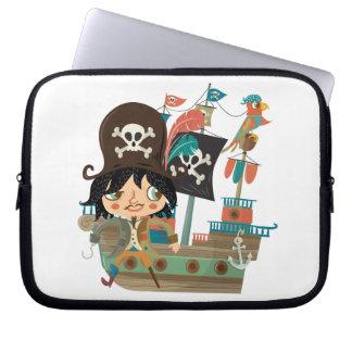 Pirata y barco pirata mangas portátiles