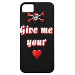Pirata y corazones iPhone 5 Case-Mate protectores