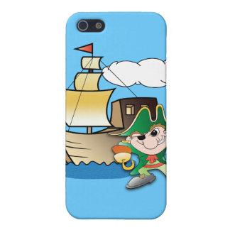 Pirata y nave del dibujo animado iPhone 5 carcasa