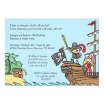 Pirata y princesa Invitations Invitación 12,7 X 17,8 Cm