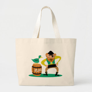 Pirata y ron bolsa