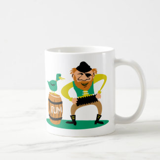 Pirata y ron taza de café
