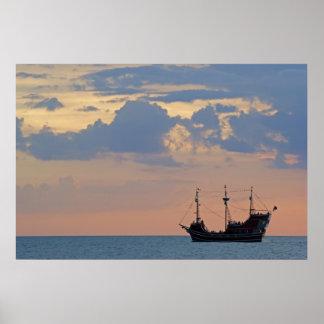 Piratas 1 de la puesta del sol impresiones