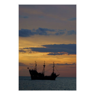Piratas 5 de la puesta del sol poster