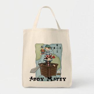 Piratas Ahoy Tshirs y regalos Bolsa Tela Para La Compra