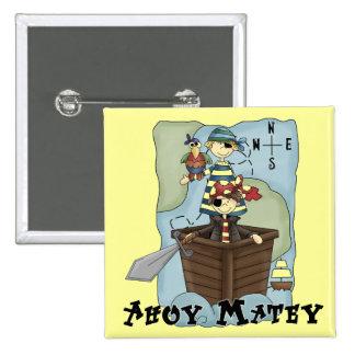 Piratas Ahoy Tshirs y regalos Pins
