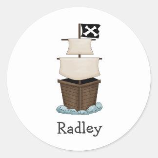 Piratas · Barco pirata Pegatina