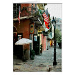 Piratas callejón, barrio francés, New Orleans Tarjetón