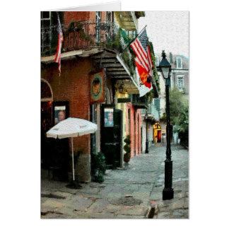 Piratas callejón, barrio francés, New Orleans Tarjeta De Felicitación