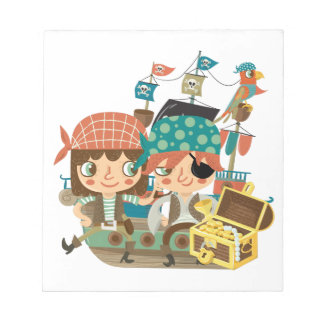 Piratas con el tesoro bloc de papel