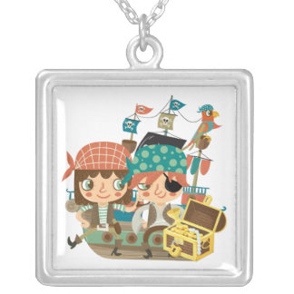 Piratas con el tesoro colgantes