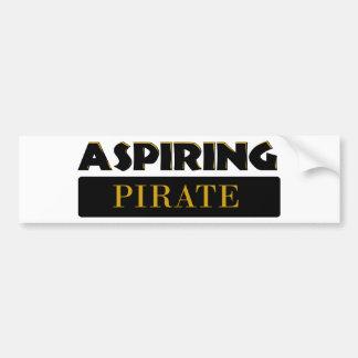 Piratas de aspiración pegatina para auto