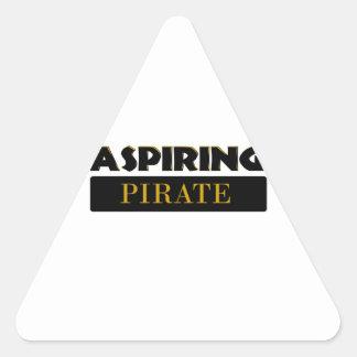 Piratas de aspiración pegatina triangular