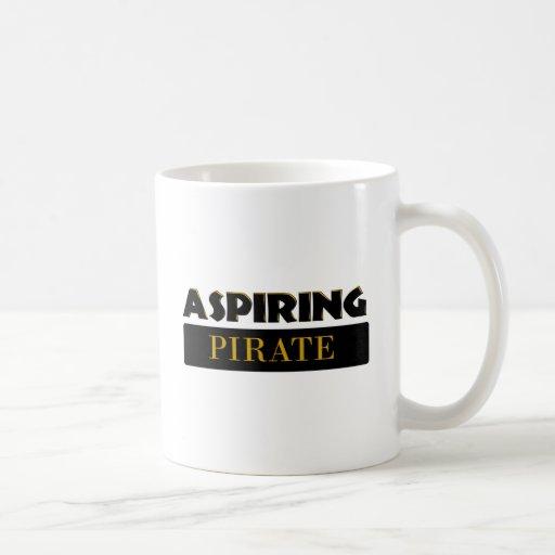 Piratas de aspiración taza de café