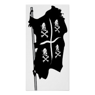 Piratas de Cerdeña 4 Mori - Bandiera Pirati Sardeg Póster