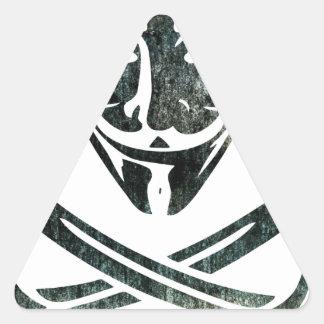 Piratas de Digitaces Pegatina Triangular