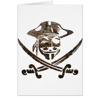 Piratas de Digitaces Tarjeta De Felicitación