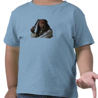 Piratas de Jack Sparrow del Caribe con el arma Camisetas