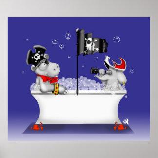 piratas de la bañera póster