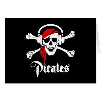Piratas de la música tarjeta de felicitación