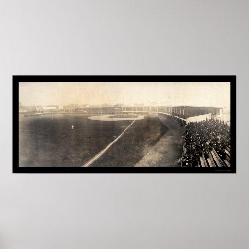 Piratas de los rojos que abren la foto 1905 póster