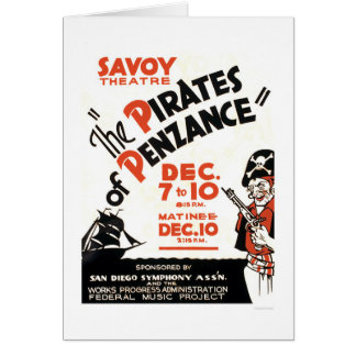 Piratas de Penzance WPA 1938 Tarjeta
