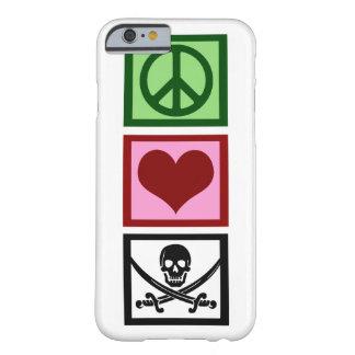 Piratas del amor de la paz funda para iPhone 6 barely there