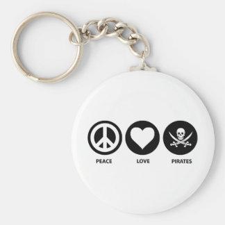 Piratas del amor de la paz llavero redondo tipo pin