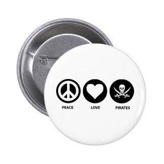 Piratas del amor de la paz pin redondo 5 cm