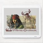 Piratas del arte del Caribe Disney de la película Mousepad